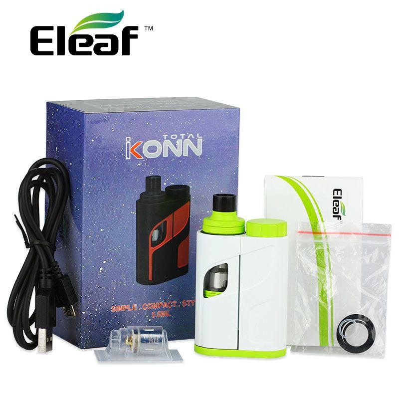 Original 50W <font><b>Eleaf</b></font> iKonn Total Vape Kit 50W 5.5ml Ello Mini XL Tank iKonn E-Cigs iKonn Total Start KIT No Battery vs istick Pico