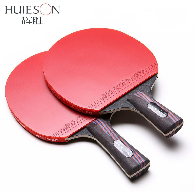 Huieson Carbon Fiber Table Tennis Racket Double Face Pimples-in Racket Rubber Table Tennis Bat with Bag Top Recommended