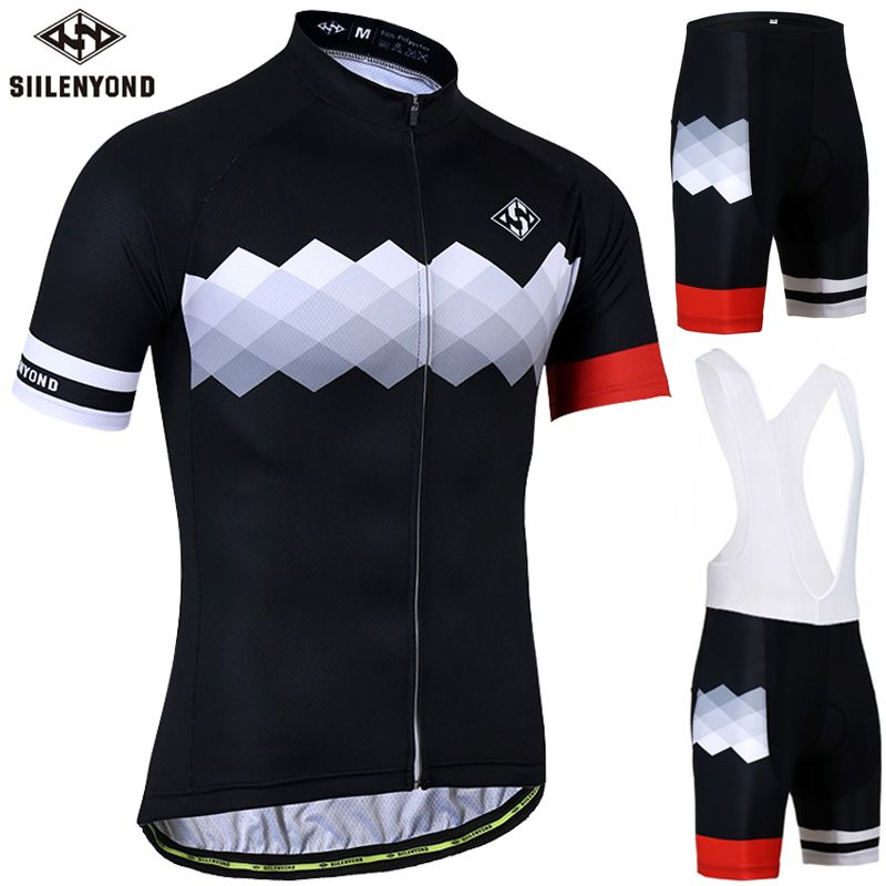 Siilenyond Anti-UV Cycling Jersey Set Summer MTB Bicycle Clothing Racing Bike Clothes Cycling set Ropa Maillot Ciclismo
