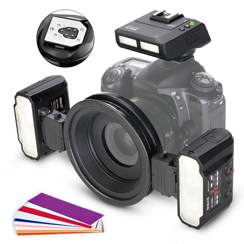 Meike MK-MT24CII Makro Blitzgerät für Canon DSLR Kamera 1100D 1200D 70D 60D 760D 750D 700D 650D 600D 550D 500D 450D 350D
