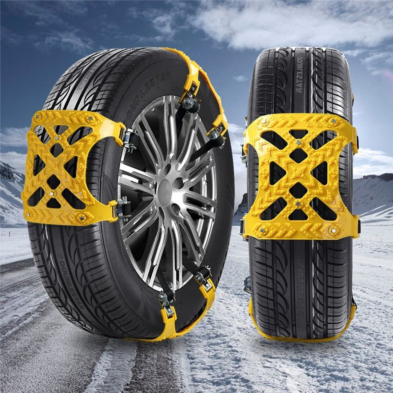 3x TPU Snow Chains Universal Car Suit 165-265mm Tyre Winter Roadway Safety Tire Chains Snow Climbing Mud Ground Anti Slip