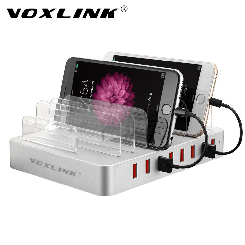VOXLINK Universel Multi-Port USB Station De Recharge Dock 96 W 8-Port Multi USB Charging Dock pour iPhone, iPad, Samsung Galaxy, Tablet