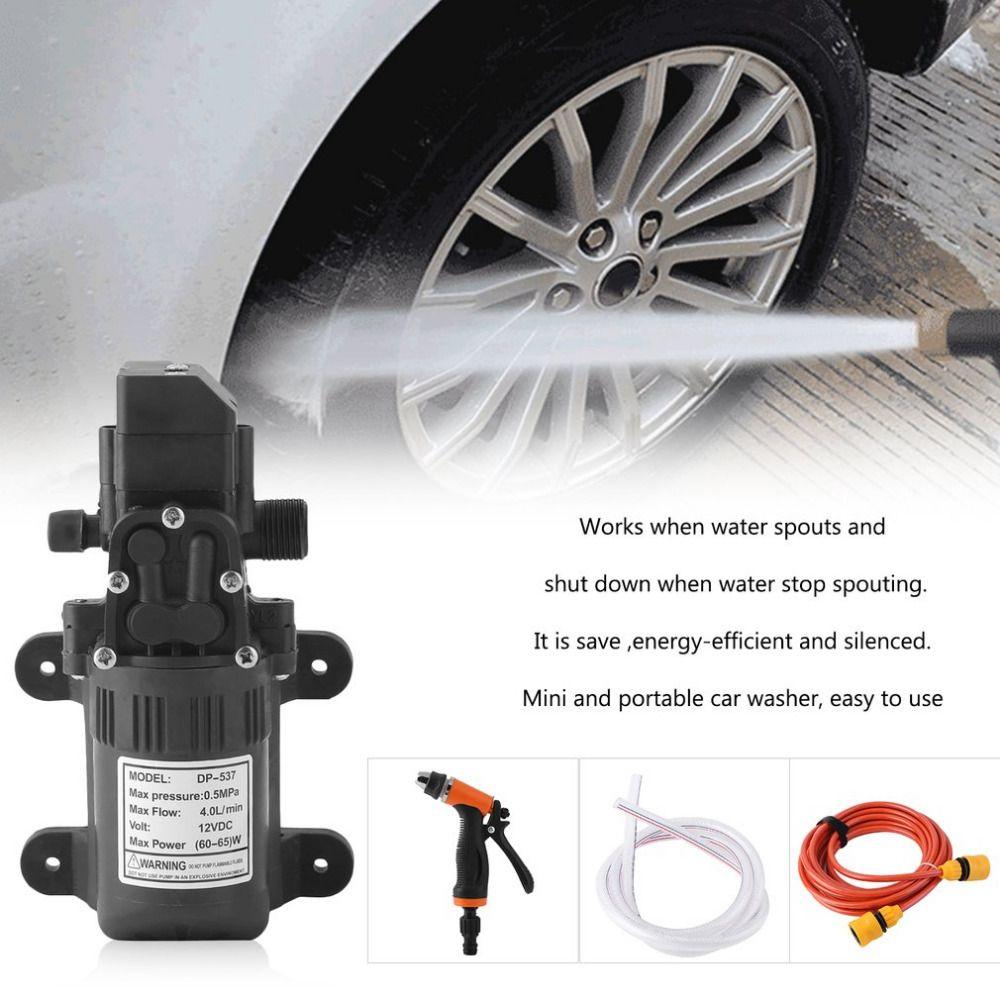 High Pressure 0.5Mpa 4L/min Electric Car Wash Washer Household Self-priming Water Pump 12V Car Washer Washing Machine Hot New