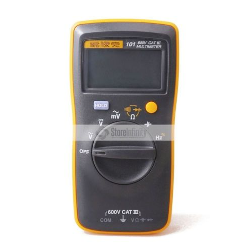Fluke 101 Basic Palm-sized Mini Pocket auto range Digital Multimeter for AC/DC Voltage Resistance Capacitance