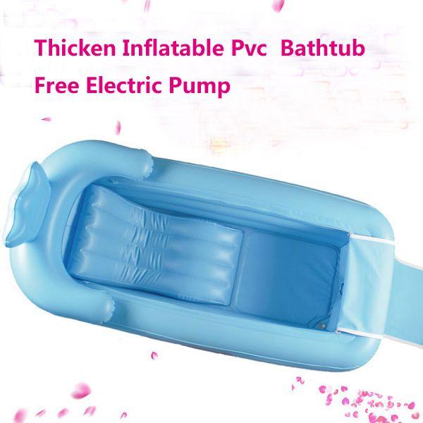 Pink agotado 165x85x45 cm inflable grande bañera engrosamiento bañera plegable para adultos plástico cubo grande de aislamiento con Cojines asiento