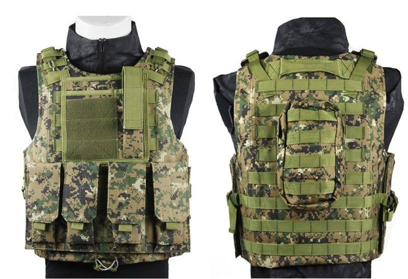 Heißer verkauf Tarnung Militärische Taktische Weste Airsoft Jagd Molle Weste CS Ausrüstung 13 farben
