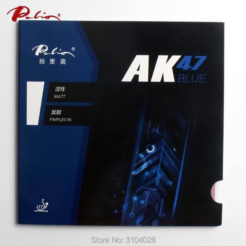Palio officielles 40 + bleu Ak47 tennis de table en caoutchouc bleu éponge pour boucle et rapide attaque nouveau style pour raquette jeu ping-pong