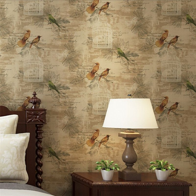 Beibehang Tapeten Wohnkultur Blumentapete Vliestapete 3D Papier Kontaktieren für Wohnzimmer Vogel Tapete Rol