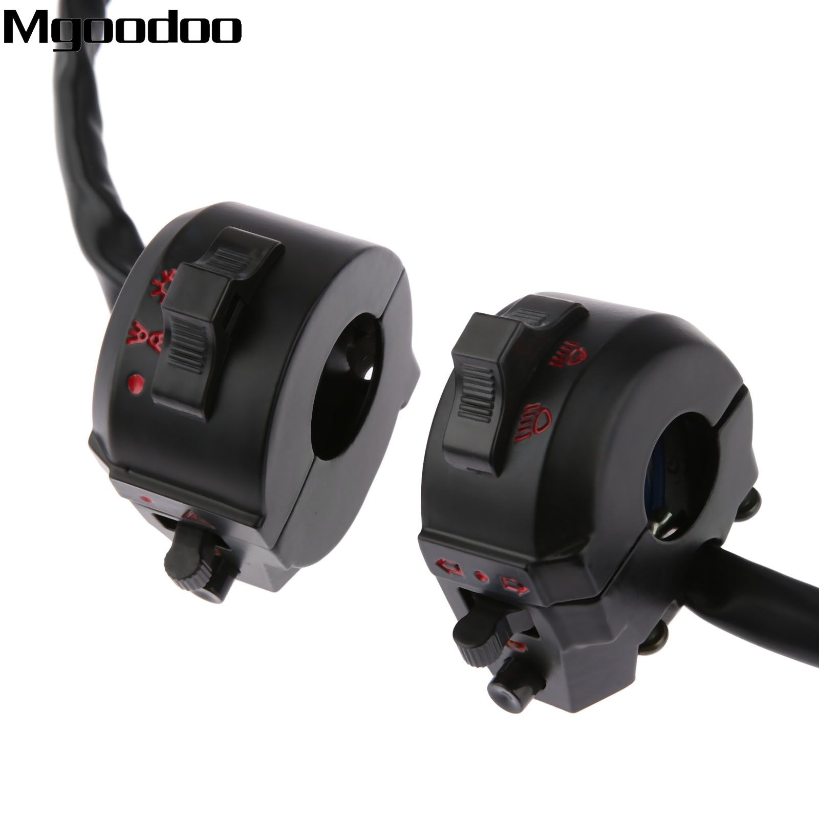 New Motorcycle ATV 22mm Handlebar Left Right Side Control Switch High/Low Beam Light Turn Signal Horn Switch 7/8 Motorbike Part