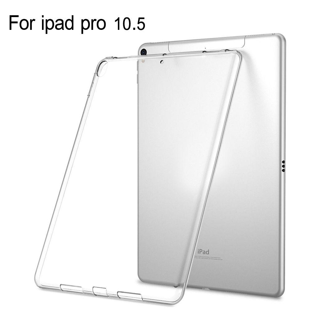 Pour Tablette apple Ipad pro 10.5 Cas Mince Crystal Clear TPU Silicone De Protection Couverture Arrière + Stylet Pour Ipad pro 10.5 cas