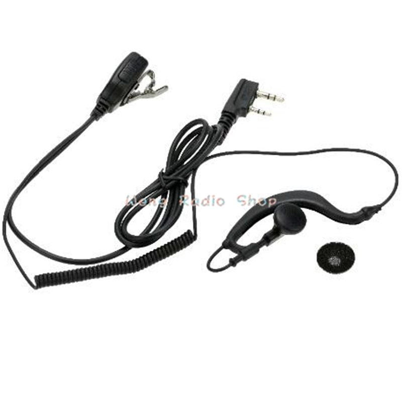 New K port Durable Ear hook earphone 2pin Earpiece MIC with PTT for Kenwood BAOFENG uv-5r Retevis TYT WOUXUN Two Way Radio