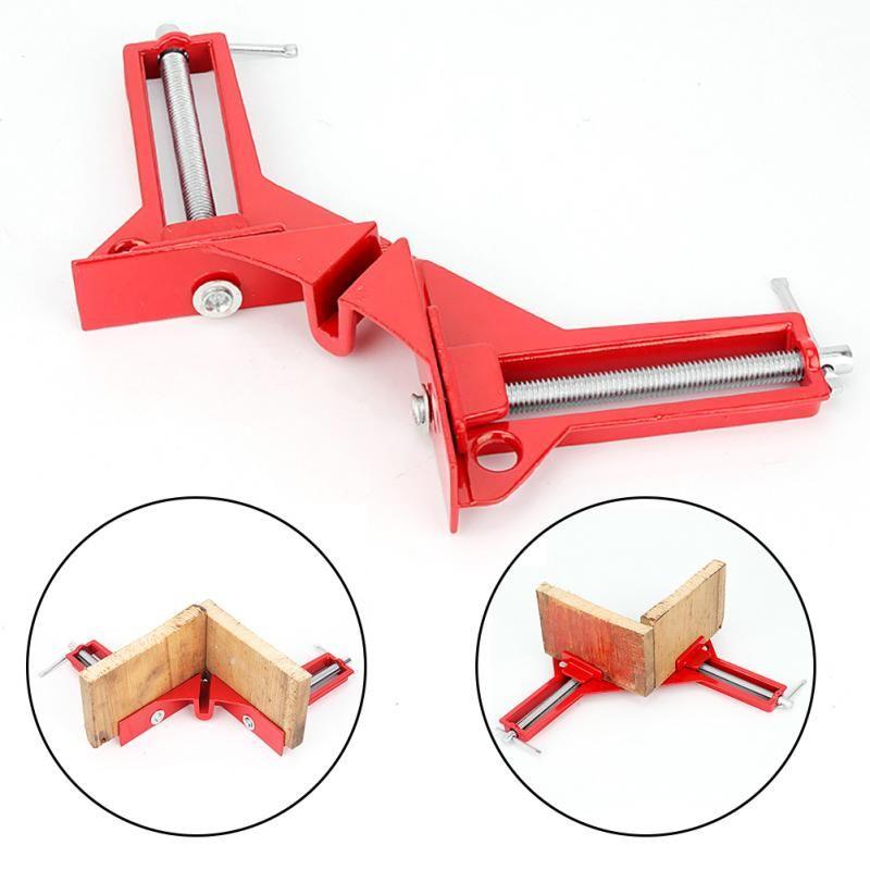 4 pièces 4 pouces multifonction 90 degrés Angle droit Clip cadre photo coin pince Mitre pinces coin support menuiserie main outil