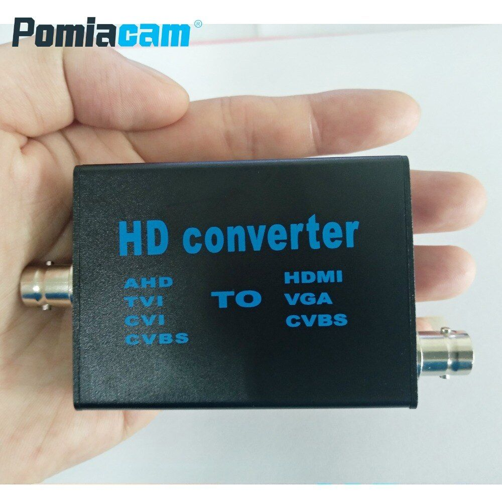 AHD41 4-in-1 high definition video signal convertor, AHD/TVI/CVI/CVBS signal to HDMI/VGA/CVBS signal convertor
