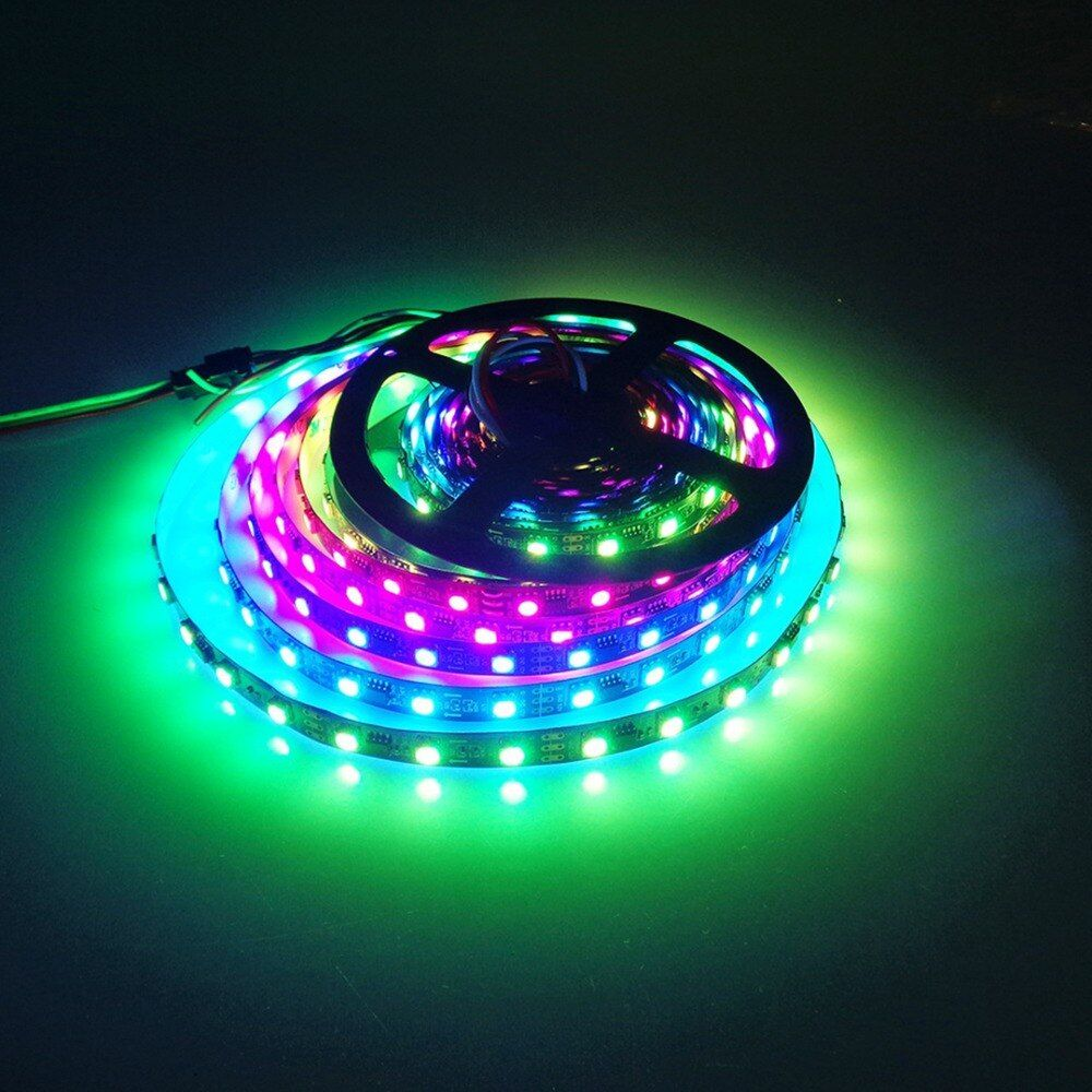 WS2811 LED strip ambilight 12V 300 LEDs SMD 5050 RGB strip 1m 2m 3m 4m 5m 60 leds/m waterproof IP30 IP67 light wire HN
