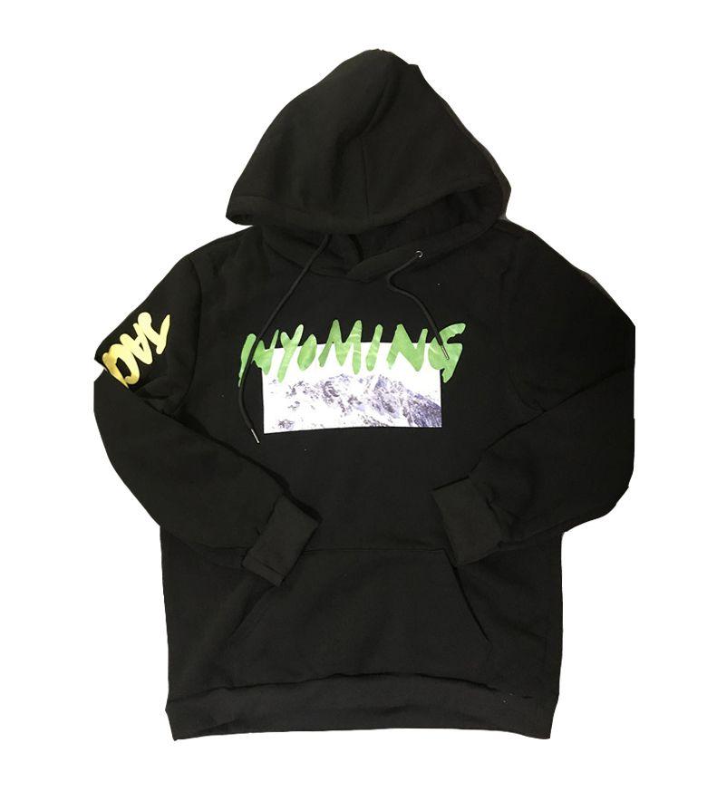 Kanye West Wyoming LISTENING PARTY Hoody Season 5 OVERSIZE Mountains Printing Men Hoodies Hip Hop Sweatshirt US SIZE S-XL