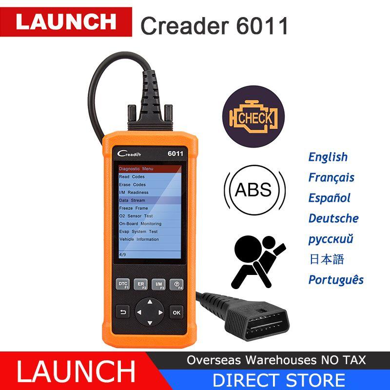 Launch CReader 6011 CR6011 OBD2 Scanner ABS SRS Code Read Auto Diagnostic Tool Car OBD 2 OBDII Automotive Autoscanner PK CR619