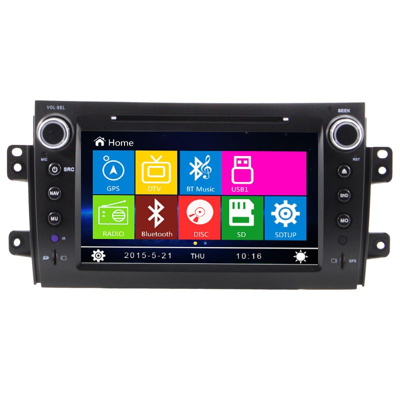 Два Дин 8 дюймов dvd-плеер автомобиля для Suzuki SX4 Fiat Sedici 2006 2007 2008 2009 2010 2011 2012 2013 GPS навигации Радио ТВ RDS USB