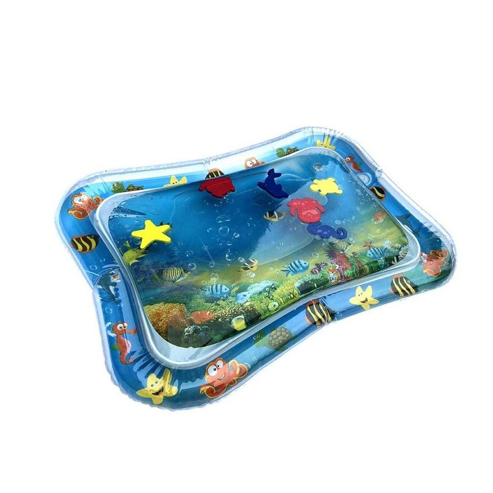MUQGEW Creative Dual Use Toys Baby Inflatable Patted Pad Baby Inflatable Water Cushion Prostrate Water Cushion Pat Pad