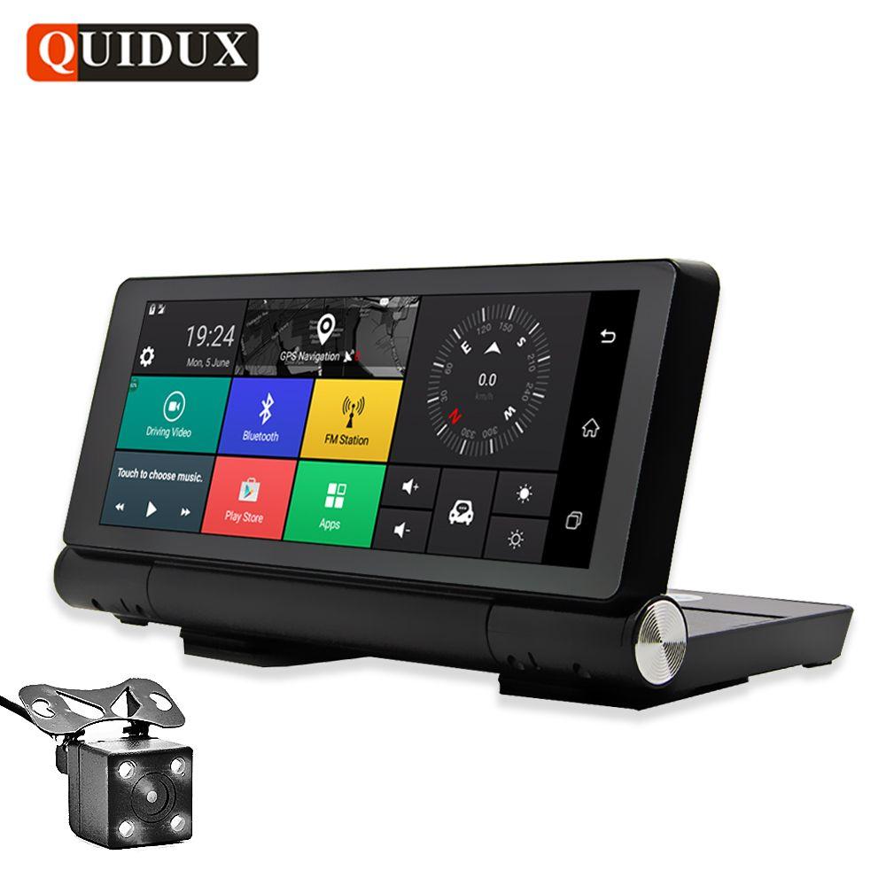 QUIDUX 7 Inch 1080P Dash camera ADAS 4G Android GPS Navigation Dual Lens Car Video Camera Recorder Bluetooth WIFI Car detector