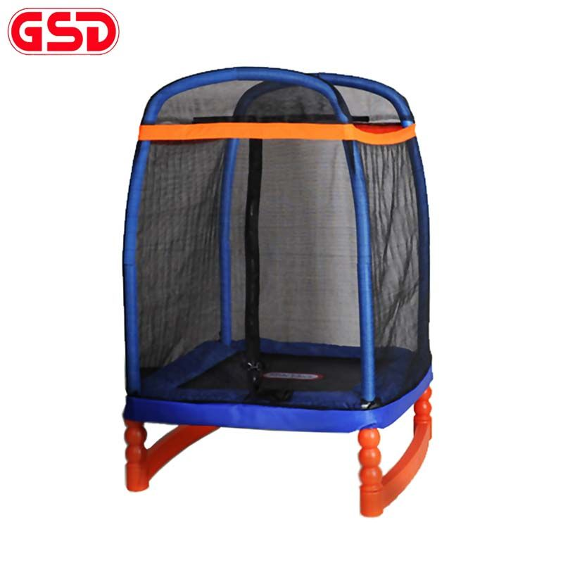 GSD High quality 48 Inch Kids Square Trampoline with SafetyNet Fits, jumping Max weight 100kg,TUV-GS,CE approval