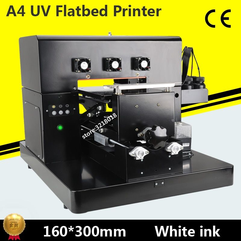 2017 Factory direct A4 UV Printer LED with emboss effect Golf UV Flatbed Printer for Phone Case, T-shirt, leather,TPU