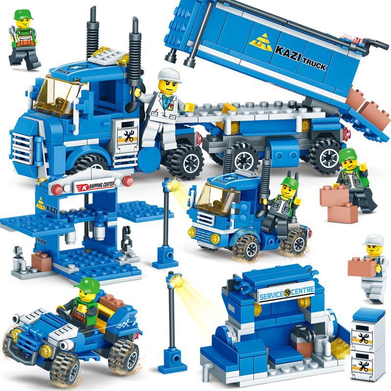 NEW 318pcs 4 IN 1 URBAN FREIGHT Building Blocks LegoINGlys City Truck Blocks Toy Bricks Educational Building Toys for Children