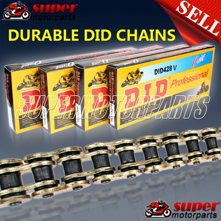 Motorcycle Chain Aftermarket 428, 520, 525, 530 Aftermarket Oil Seal O-rings Gold Chain