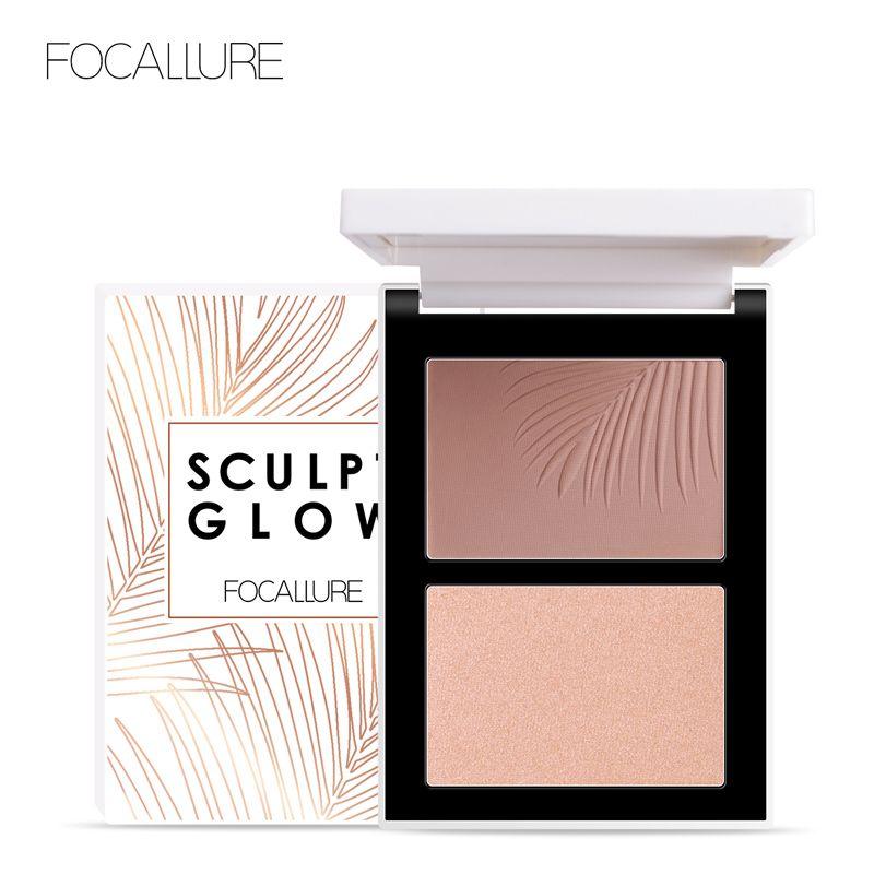 FOCALLURE Double tête 3D bronzant surligneur pour visage maquillage bâton crème Texture Contour iluminador maquillage surligneur bronzant