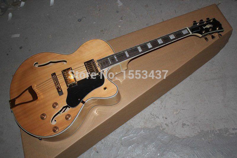 Freies verschiffen Neue Ankunft G L-5 L5 Jazz gitarre F-Halb Hohlen Natürliche farbe Elektrische gitarre auf lager