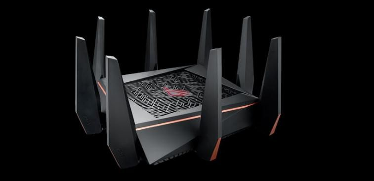 ASUS GT-AC5300 Tri-band WiFi Gaming router für VR und 4 K streaming, mit quad-core prozessor, gaming port