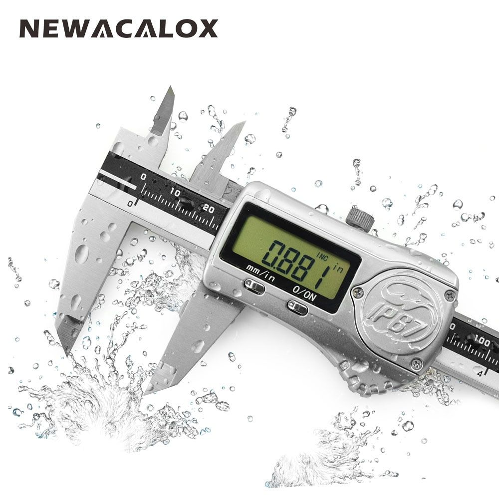 NEWACALOX 150mm/6inch 0.01mm IP67 Precision Digital Caliper Industrial Waterproof Oilproof with ABS/INC System Measurement Tool