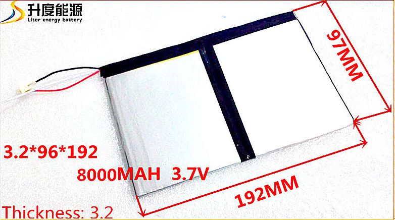 3.7v <font><b>8000mAh</b></font> 3296192 For Teclast X98 air 3G P98 3G Tablet PC Battery 3 wire X98 X98 AIR p98 X98 P98HD P98
