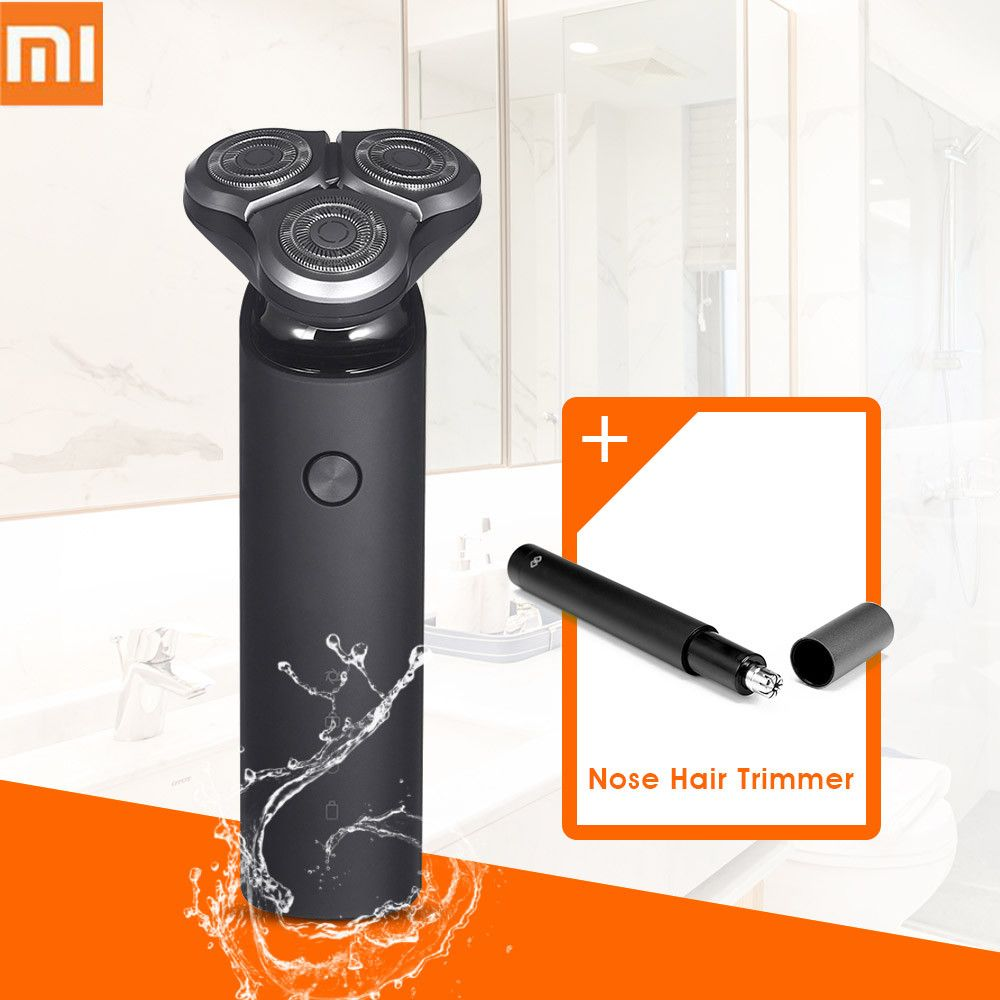 2018 nouveau Xiaomi Mijia rasoir électrique 3D tête flottante 3 sec humide rasage lavable Main-Sub double lame Turbo + Mode comfortable propre