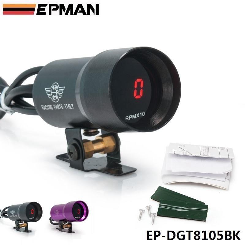 37mm Smoke Tach RPM Tachometer Red Digital Shift Light Style Gauge Pod Black,Purple For BMW E39 5 Series 97-03 EP-DGT8105