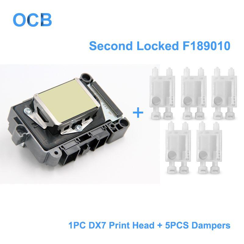 New F189010 Second Locked Printhead DX7 Solvent Based UV Print Head For Epson Stylus Pro B300 B310 B500 B510 B308 B508 B318 B518