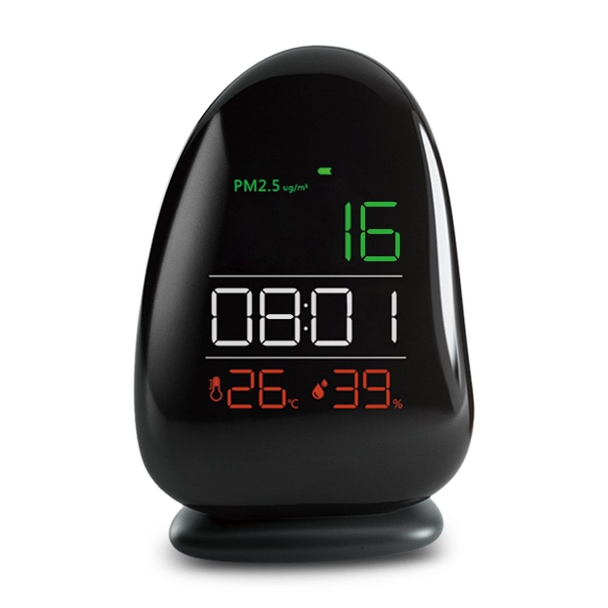 PM2.5 Laser Sensor Detector Air Quality Monitor Meter w/ Temperature/Level/RH humidity/Time Gas Analyzers For Home Office School