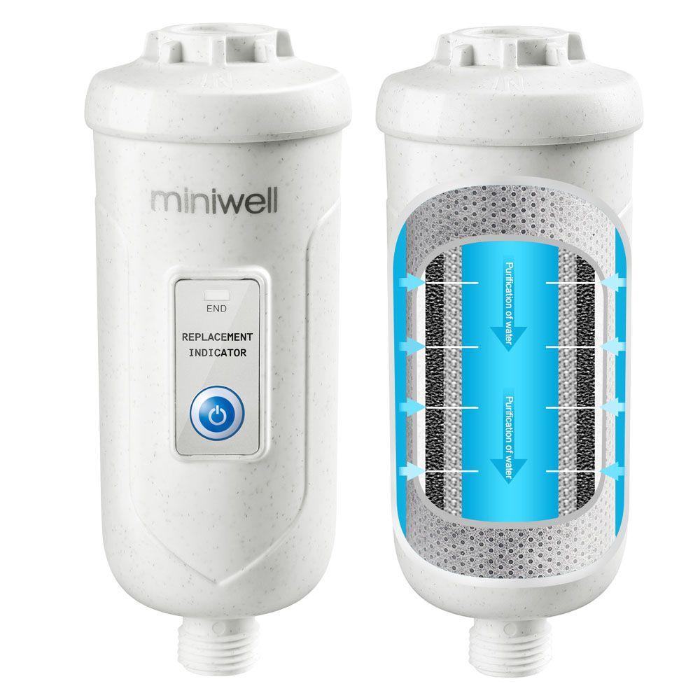 Miniwell L730 système de douche à filtre avec pomme de douche réglable dans la salle de bain