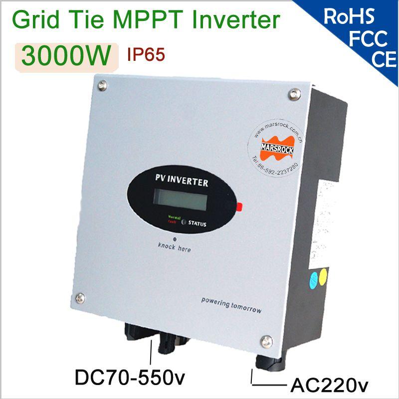 3000 Watt 220 V AC Einphasig Rasterfeldriegel Solar-wechselrichter mit DC Schalter, rs232-schnittstelle, IP 65 für den heimgebrauch, verfügbar für Europäischen Markt
