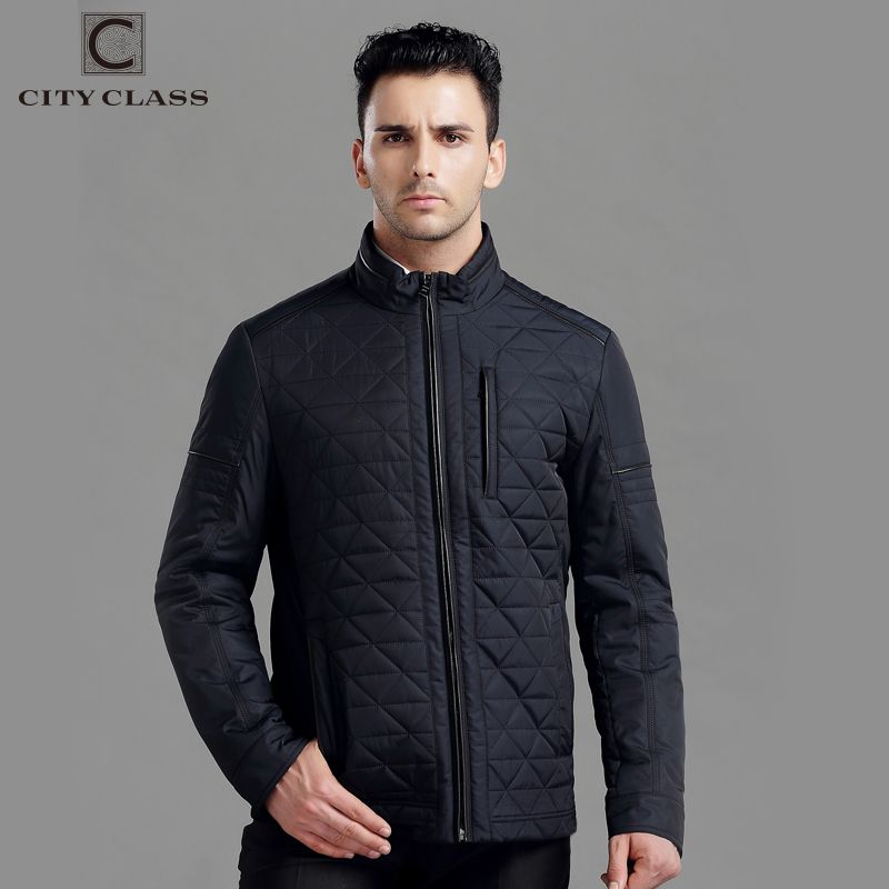 CITY CLASS New Mens Autumn Jackets And Coats Fashion Top Casual Short Stand collar Cotton-Padded Quilted Jacket Free Ship 14008