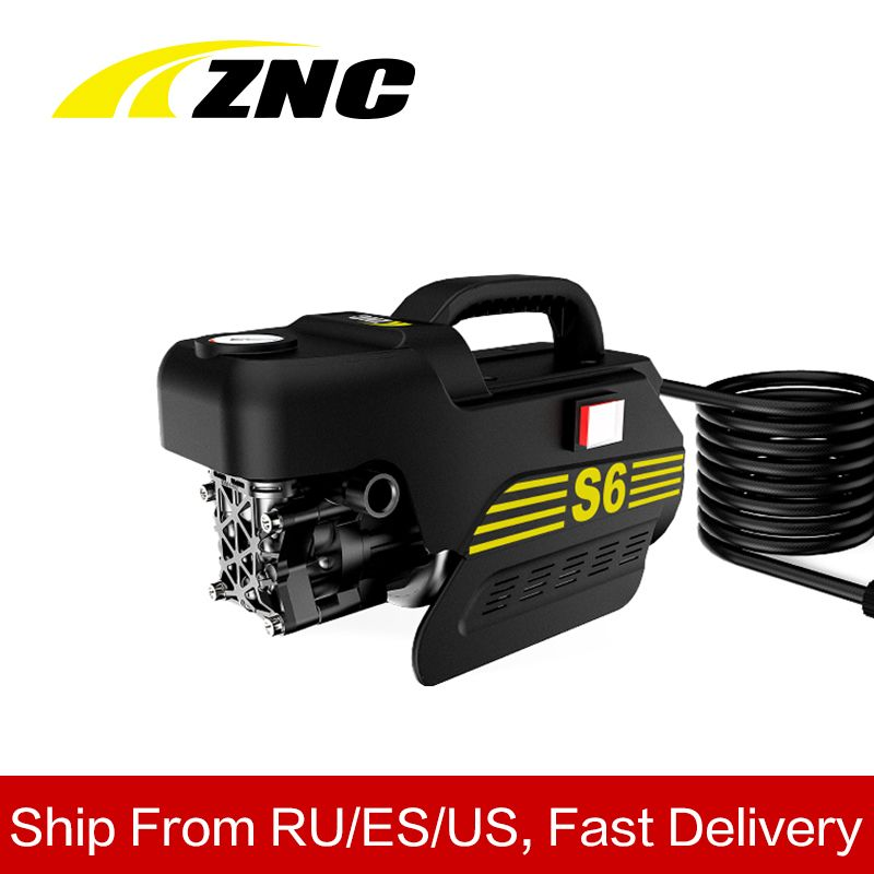 ZNC High Electric Pressure Car Washer High FLow 7LPM Self Suction Cleaning Self Suction Cleaning Machine High Pressure Gun Z6