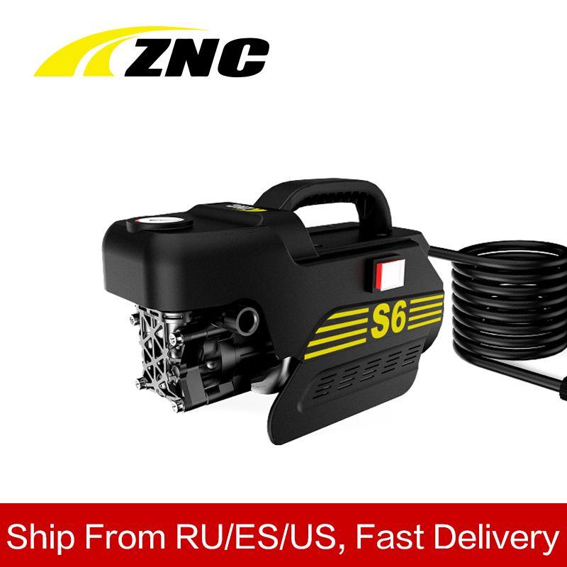 ZNC haute pression électrique lave-auto haut débit 7LPM auto-aspiration nettoyage auto-aspiration Machine de nettoyage haute pression pistolet Z6