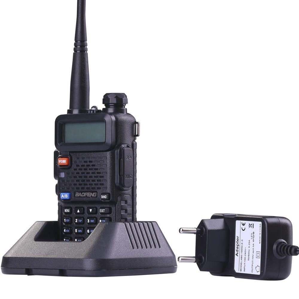 BaoFeng UV-5R Talkie-walkie Professionnel Radio Baofeng UV5R Émetteur-Récepteur 128CH 5 w VHF et UHF de Chasse Tenu Dans La Main + USB câble de programme