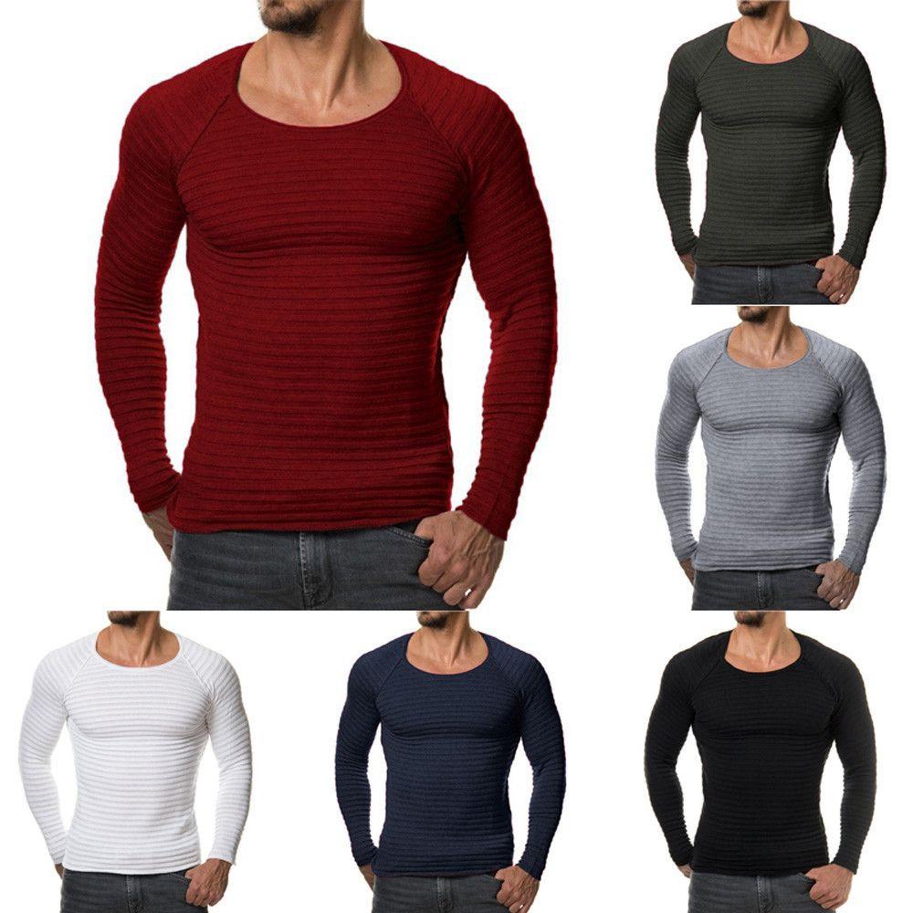 Новинка 2017 года Для мужчин вязаный свитер осень-зима модная брендовая одежда Для Мужчин's Свитеры для женщин сплошной Цвет Slim Fit Для мужчин п...