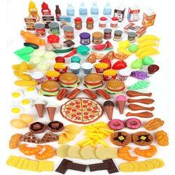 Play Food Set for Kids - Huge 120 Piece Pretend Food Toys is Perfect for Kitchen Sets and Play Food Kitchen Toys - Inspire