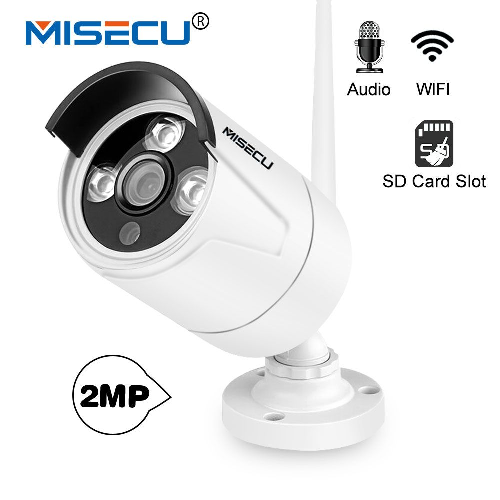 MISECU H.264+ WIFI IP Camera Audio Record Sound 720P 960P 1080P HD with SD card slot and Waterproof Night Vision Emial P2P