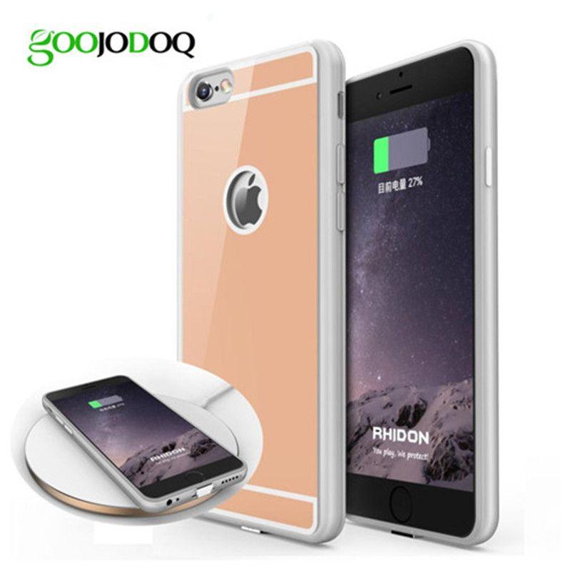 Qi chargeur sans fil récepteur étui pour iphone 6 6 s 6 6 s plus 5 5 s SE housse de téléphone avec adaptateur utilisé sur le chargeur sans fil T0910