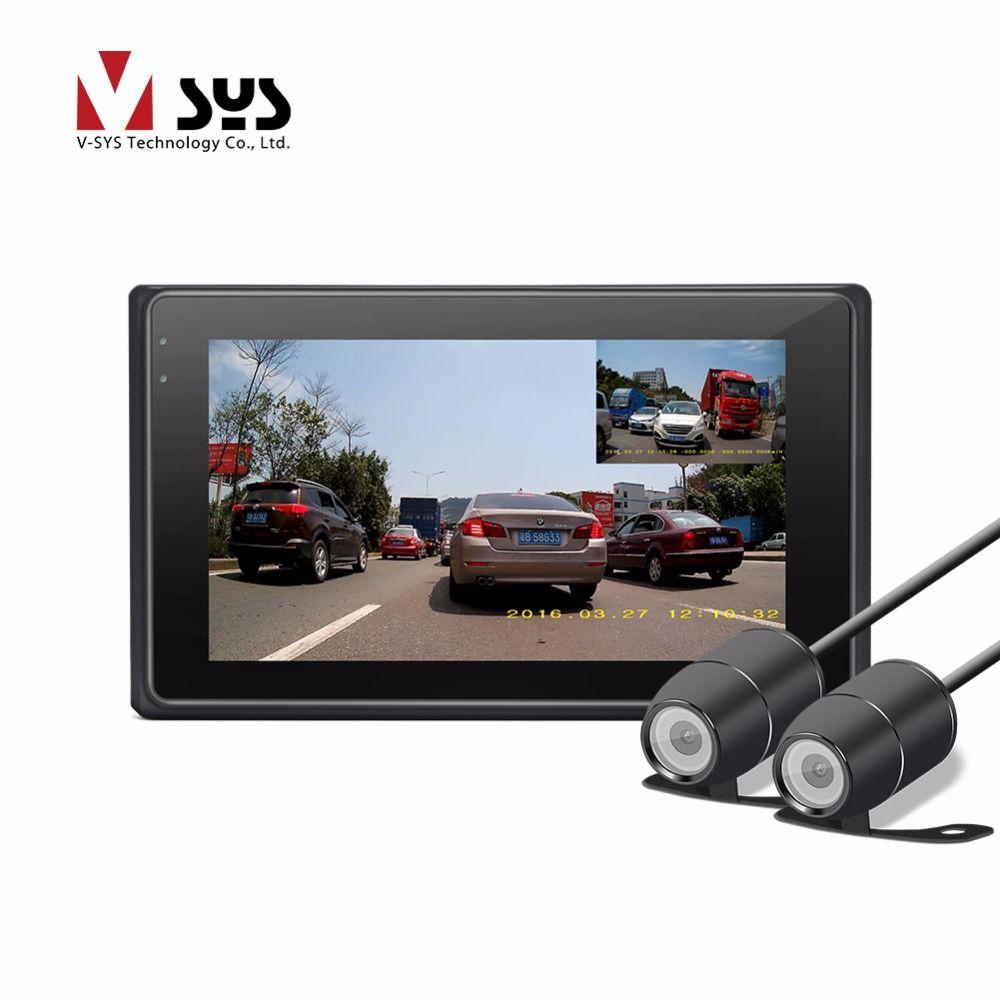 VSYS 2018 Neueste X2 Upgrade M2F WiFi H.264 2CH Echt 1080 P Dual IP68 Objektiv Vorder-und Rückansicht Motorrad Kamera DVR Schwarz Box