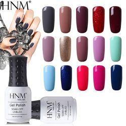 HNM 8 мл чистый 28 цветов УФ гель лак для ногтей Soak Off Lucky лак светодио дный праймеры LED Гибридный полу постоянный Топ База краски Gellak