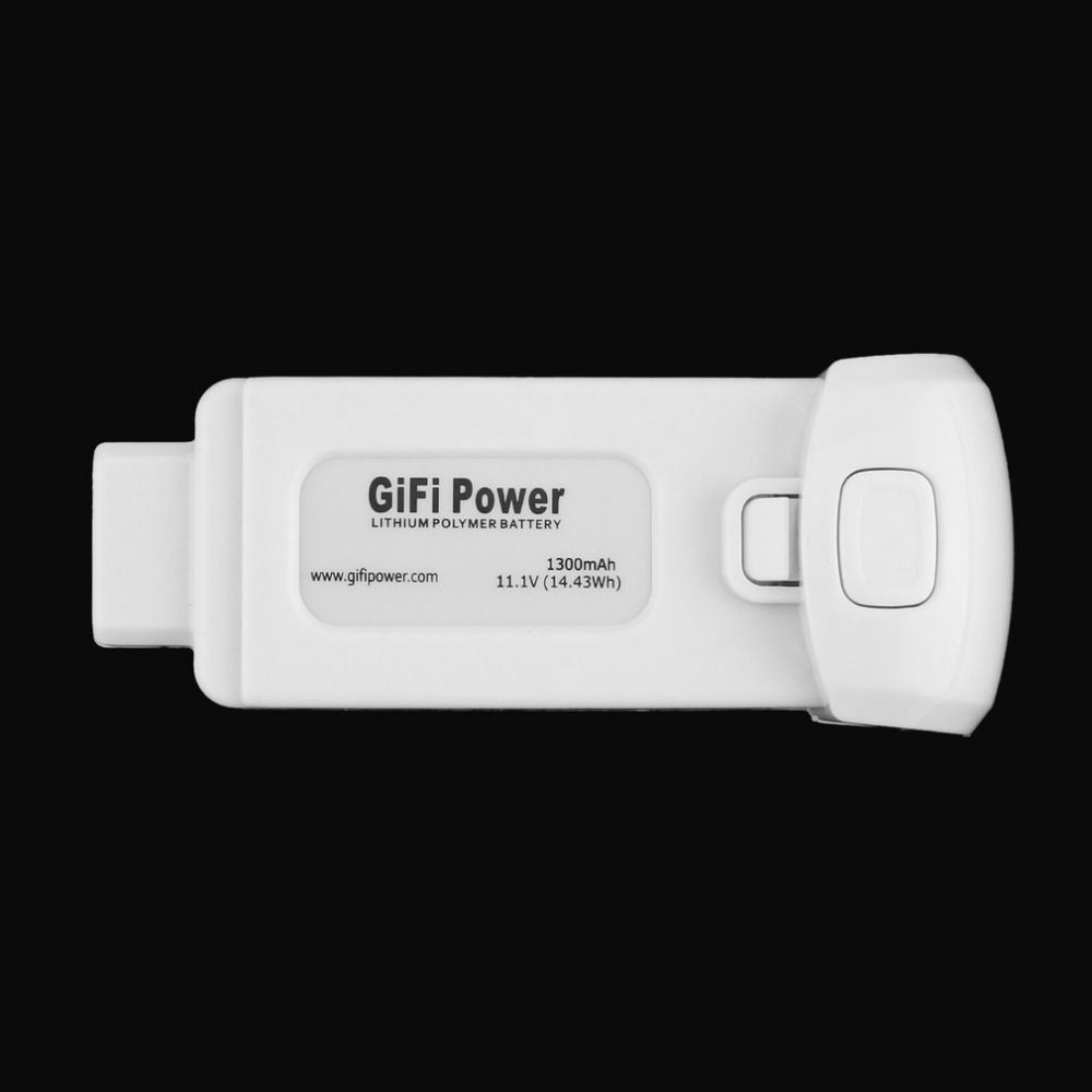 1 pc Gifi Power Lightweight Compact 11.1V 1300mAh 14.43Wh Replacement Lithium Polymer Battery for Yuneec Breeze
