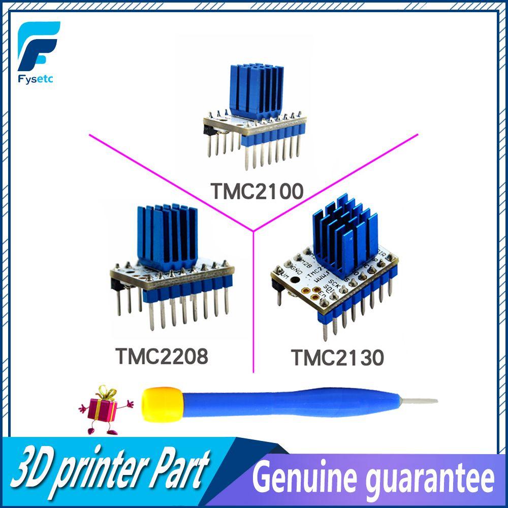 5PCS TMC2100 V1.3 TMC2130 TMC2208 Stepper Motor StepStick Mute Driver Silent Excellent Protection For 3d Printer Sky V1.3 Parts